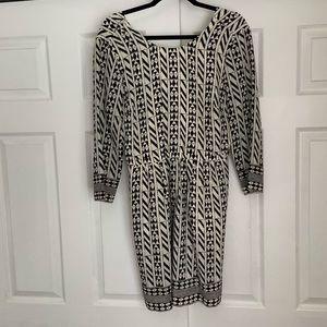 Madewell geometric dress with exposed back zipper